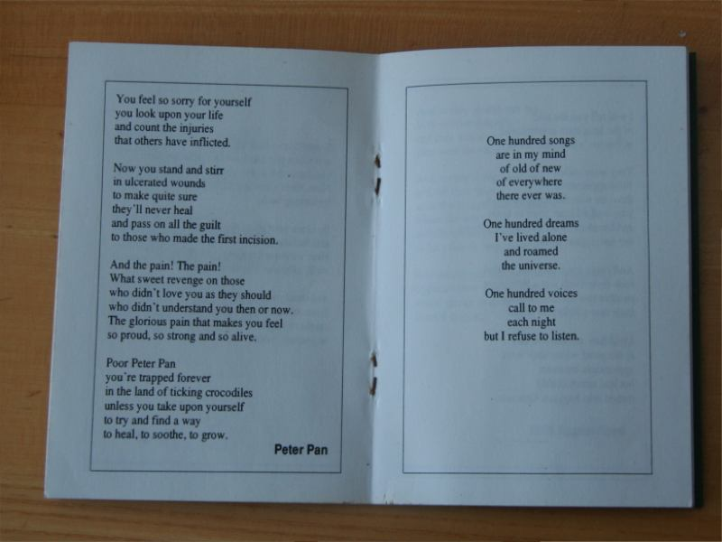 Fairy Tales Poetry Book Poem Peter Pan and Poem 100