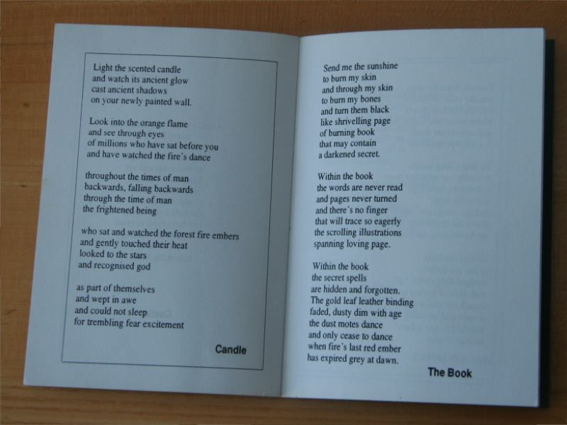 Fairy Tales Poetry Book Poem Candle and Poem The Book