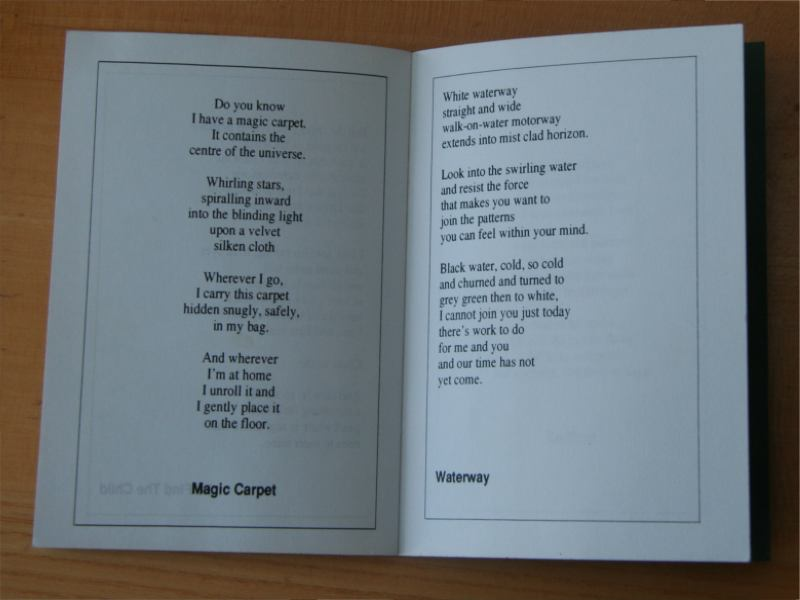 Fairy Tales Poetry Book Poem Magic Carpet and Poem Waterway