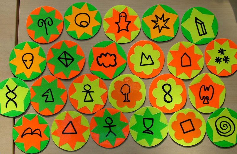 Fridge magnet symbol set